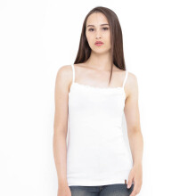 Mobile Power Ladies Small Brocade Tanktop - White Q6724