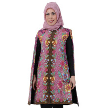 SHE BATIK Cape Dress Batik Dobi - Magenta