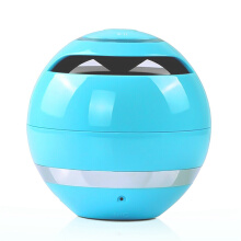 Vinmori Mini Wireless Ball Bluetooth Speaker Stereo Bass Loudspeaker Portable Sound Box With Mic Support TF Card FM Radio Blue