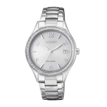 CITIZEN Eco Drive Watch - Silver Strap/Silver Dial 34mm Ladies [EO1180-82A]