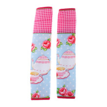 ARNOLD CARDEN Refrigerator Handle Cover Tea Pot 1 Pair - Pink 15x30cm