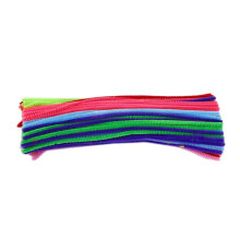 [kingstore] 100pcs DIY Handmade Educational Shilly Stick Plush Materials Toys For Children Multicolor