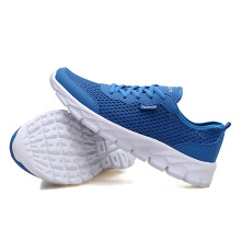 Men'S Shoes Hollow Breathable Large Size Couple Models Travel Sports Network 43 Blue
