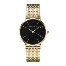 ROSEFIELD The Upper East Side Gold Black Dial Watch with Gold Strap [UEBG-U24]