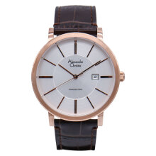 Alexandre Christie AC 8344 MD LRGSL Man Sport White Dial Brown Leather Strap [ACF-8344-MDLRGSL] Brown