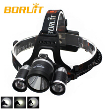 BORUIT 8000Lm 3x XM-L2 LED Headlight Headlamp Head Torch+AC/USB Charger+2X 18650 Camping Fishing Cycling Rock Climbing