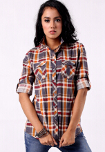 Point One LEANDRA Plaid Shirt