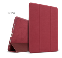 Ins AP-110 Super Thin PU Artificial deer skin pattern Surface scrub treatment Apple Ipad Pro10.5 protective cover-Red