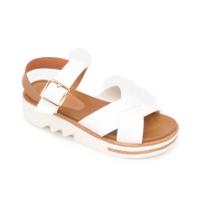 Symbolize Betari Strappy Wedges Putih