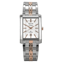 Alexandre Christie AC 8408 MD BTRSL Man Classic White Dial Dual-tone Stainless Steel [ACF-8408-MDBTRSL] Silver