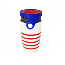 Neolid TWIZZ Cup Travel Mug - Moonlight [350 mL] Red - White Others