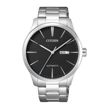 CITIZEN Automatic Watch - Silver Strap/Black Dial 40mm Gents [NH8350-83EB]