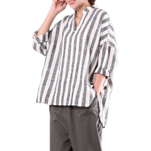 Zanzea M-5XL Women V-neck Long Sleeve Casual Loose Stripe Blouses