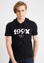 One Hours 199x T-Shirt Hoodie - Black
