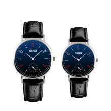 SKMEI Original Jam Tangan Pria Wanita Jam Tangan Couple Elegan Simple Casual Water Resistant 9120cl - Hitam Biru Blue