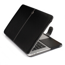 Smatton Business Holster PU leather Cover for Macbook 12 inch case laptop bag for Apple mac book 12 inch case