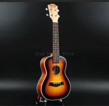 BWS 23 inch 4 Strings Musical Instruments Ukulele Rosewood Concert Mini Acoustic Uke Handcraft Hawaii Small Guitar B-18 Orange