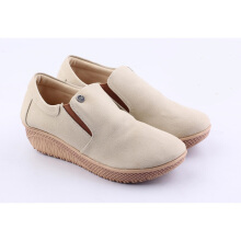 CATENZO Wedges Kasual Wanita - AH 061 - Cream