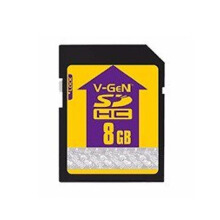 V-Gen SDHC 8 GB Memory Card Black