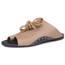 BESSKY Women Flat-Bottomed Roman Sandals Open Ankle Flat Straps Platform Wedges Shoes_