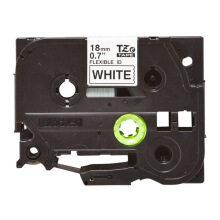 BROTHER Label Tape TZE-FX241 18MM Flexible Black on White