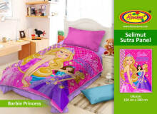 Selimut Rosanna Sutra Panel 150x200cm Barbie Princess