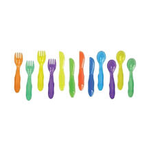 The First Years Take & Toss Toddler Flatware Peralatan Makan - Multicolor