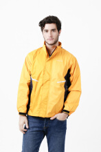 INVENTZO Alpha Urbano Series Dominator Beta Jaket Motor Pria - Yellow Navy