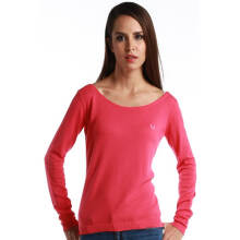 Fredperry Women -Pink Round Neck Sweatshirt