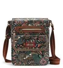 SAKROOTS Small Flap Messenger in Sienna Spirit Desert