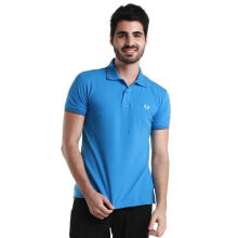 Authentic Fred Perry Men Blue Polo wt Dull Blue Twin Tipped XXS
