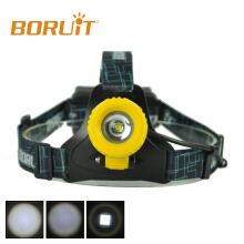Boruit B11 XM-L T6 LED Headlamp Rechargeable Zoomable Head Light Headlight Torch Micro USB yellow Camping Fishing Cycling