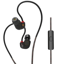 KZ ATE-S Super Bass In-ear Earphones 3.5mm Jack Sport Earhook Design with HiFi Microphone Foam Eartips Black