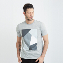 ONE HOURS Block Colour T-Shirt Men - Grey