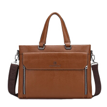 Wei's Men's Bag Laptop Bag Leather Briefcase fdk2169