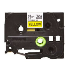 BROTHER Label Tape TZE-FX641 18MM Flexible Black on Yellow
