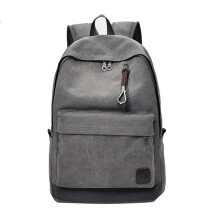 BESSKY Casual Men Canvas Backpack School Travel Student School Laptop Bag _