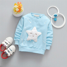 BESSKY Boy Girl Baby Outfits Clothes InfantStar Printed Cotton Long Sleeve T-shirt Top_