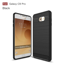 Smatton Case hp SAMSUNG Galaxy C9 Pro Luxury Shockproof Case Carbon Fiber For Soft TPU Full Protect Ultra Thin Case shell