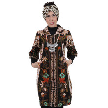 SHE BATIK Dress Batik Cap Sinaran - Black