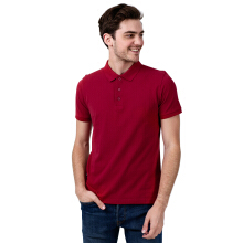 BESUTO Men Premium Polo - Dark Red