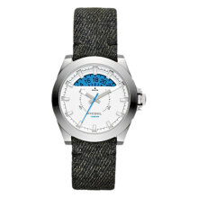 Diesel ARGES Analog White Dial Leather Strap Watch [DZ1726] Black