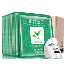 DETVFO Water Replenishing Removing Acne Green Tea Facial Mask - 20 pcs