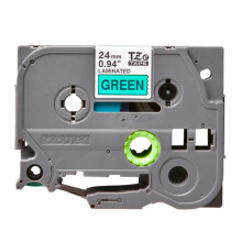 BROTHER Label Tape TZE-751 24MM Black on Green