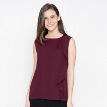 A&D Sleeveless Blouse Ms 1022 - Maroon