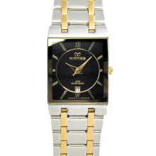 MIRAGE Watch Men 7908M Silver Gold pH - Black