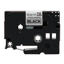 BROTHER Label Tape TZE-SM961 36MM Strong Adhessive Black on Matte Silver