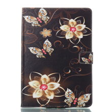 Sentum Apple iPad Air 2/iPad 6 Case Tablets Flip Stand Leather Bright Butterfly