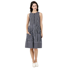 MIYOSHI JEANS MY17DR031SC Woven Yarn Dyed Dress Sleeveless