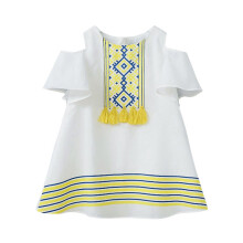 BESSKY Toddler Kids Baby Girls Clothes Hollow Strapless T-shirt Tops Princess Dresses_